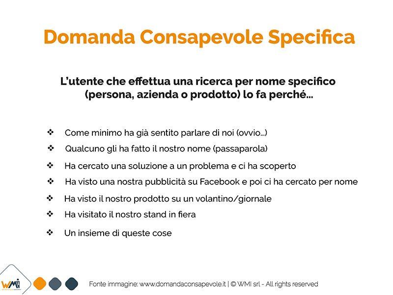Domanda Consapevole Specifica | Manuel Faè A. Sportelli